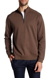 Tommy Bahama Flip Side Reversible Quarter Zip Pullover Brown