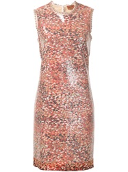 Missoni Sequin Fitted Dress Pink And Purple