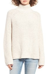 Women's Bp. Mock Neck Sweater Ivory