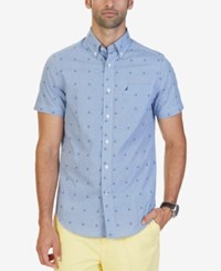 Nautica Men's Anchor Print Shirt True Blue