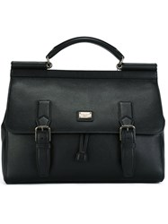 Dolce And Gabbana Satchel Backpack Black