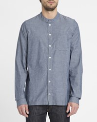 Forvert Blue Jeans Sierk Chest Pocket Mandarin Collar Shirt