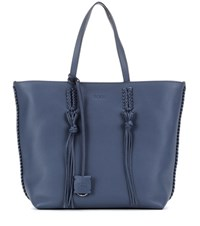 Tod's Gipsy Medium Leather Shopper Blue