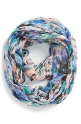 Sole Society Watercolor Infinity Scarf Blue Orange Multi