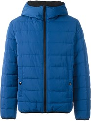 Love Moschino Hooded Puffer Jacket Blue