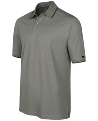 Greg Norman For Tasso Elba Pima Cotton Polo Shirt Only At Macy's Ultra Olive