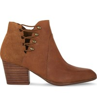 Aldo Montasico Leather And Suede Heeled Ankle Boots Camel