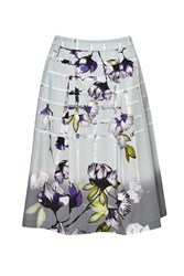 Great Plains Trellis Garden Pleated Skirt Purple