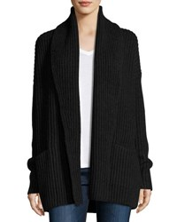 Vince Shawl Collar Open Front Cardigan Charcoal