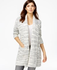 Rachel Rachel Roy Printed Cable Knit Cardigan Ivory Combo