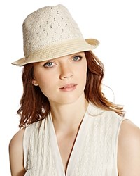August Accessories Lady Lace Fedora Natural