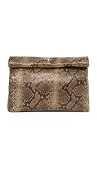 Marie Turnor Accessories Embossed Lunch Clutch Gold Snake