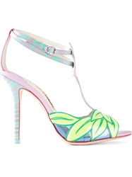 Sophia Webster Flamingo Stiletto Sandals Pink And Purple