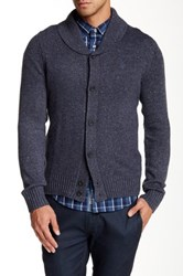 Original Penguin Long Sleeve Shawl Cardigan Blue