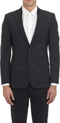 Barneys New York Two Button Sportcoat Black