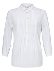 East Pintuck Dobby Shirt White