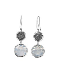 1884 Jewelry Legacy Vivace Silver Coin And Moonstone Double Drop Earrings Women's