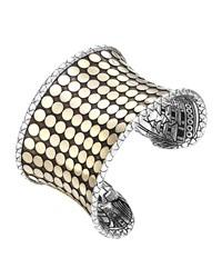 Dot Silver And 18K Gold Wide Cuff John Hardy Gold Silver