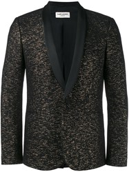 Saint Laurent Jacquard Tuxedo Jacket Black