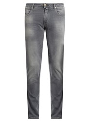 Jacob Cohen Tailored Skinny Leg Stretch Denim Jeans Light Grey