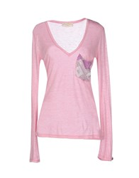 Met And Friends Topwear T Shirts Women Pink