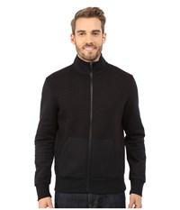 Michael Kors Quilted 1 2 Zip Hoodie Black Men's Sweatshirt