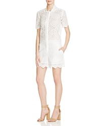 Whistles Clementine Circle Lace Romper 100 Bloomingdale's Exclusive Ivory