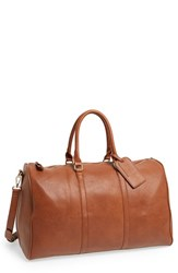 Sole Society 'Lacie' Faux Leather Duffel Bag Brown