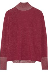 Dion Lee Cutout Back Merino Wool Sweater Red