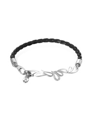 Sho London Mari Fiendship Leather And Sterling Silver Bangle