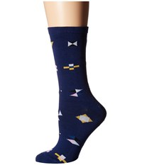 Richer Poorer Brig Navy Women's Crew Cut Socks Shoes