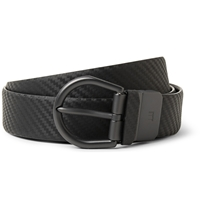 Alfred Dunhill Black 3Cm Chassis Leather Belt