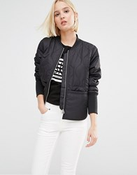 Cheap Monday Quilted Bomber Jacket Black