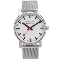 Mondaine Quartz Evo 35Mm Watch Silver