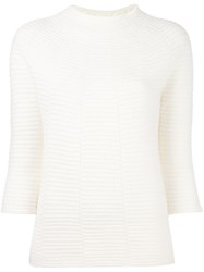 Zanone Ribbed Jumper White
