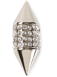 Givenchy Crystal Embellished Magnetic Earring Metallic
