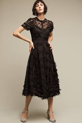 Anthropologie Cabernet Embellished Dress Black