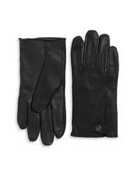 Ugg Faux Fur Lined Leather Gloves Black