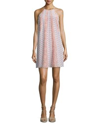 Rebecca Taylor Amanda Floral Silk Shift Dress Peach Tint Women's