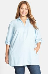 Plus Size Women's Sejour Chambray Tunic