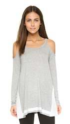 Ella Moss Mali Cold Shoulder Tee Heather Grey
