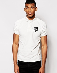 Polo Ralph Lauren Polo Shirt With Gothic P Regular Fit White