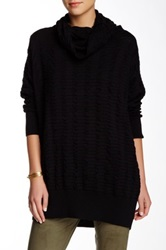 Planet Cowl Neck Sweater Black