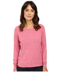 Alternative Apparel Eco Heather Slouchy Pullover Eco Summer Berry Women's Long Sleeve Pullover Pink