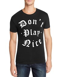 Happiness Don't Play Nice Graphic Tee Black