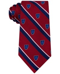 Tommy Hilfiger Men's Collegiate Stripe With Club Royal Tie Red