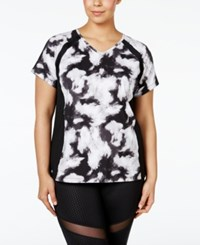 Ideology Plus Size V Neck Printed T Shirt Only At Macy's Noir Excel