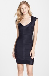 French Connection 'Miami Spotlight' Cap Sleeve Bandage Dress Nocturnal