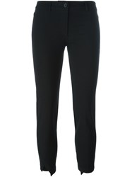 Ann Demeulemeester Slit Hem Cropped Trousers Black
