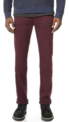 7 For All Mankind Slimmy Slim Straight Luxe Performance Colored Jeans Crimson